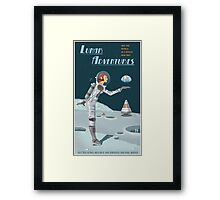 Moon Travel Poster Framed Print