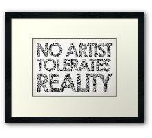 Reality Framed Print