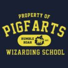 Starkid: Pigfarts wizarding school (yellow) by Piwoly