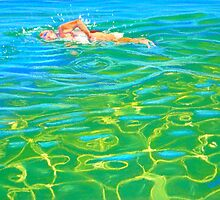 Morning Laps, Australia by Carole Elliott
