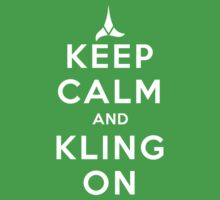 keep calm and kling-on Kids Clothes