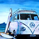 Surf Bus Series - The White Volkswagen by artshop77