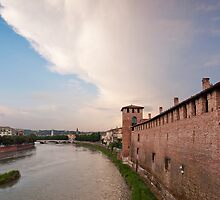 The Adige River, Verona by Mike Church