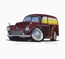 Morris Minor Traveller Maroon by Richard Yeomans
