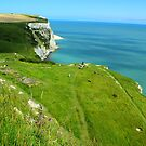 White Cliffs of Dover - Cliffs, Sea, &amp; Ferry Boats by rsangsterkelly