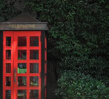 Tokyo Phone Booth by clare winslow