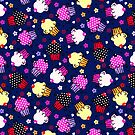 Cute Colorful Cupcakes Seamless Pattern-Purple Tint by artonwear