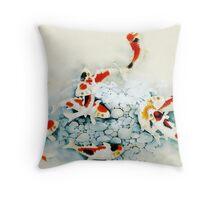 Koi carp (Nishikigo) (Chinese brush art) Throw Pillow