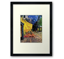 The Cafe Terrace on the Place du Forum, Arles, at Night,  Vincent van Gogh Framed Print