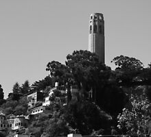 Coit Tower atop Telegraph Hill by fototaker