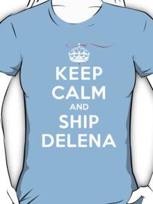 Keep Calm and SHIP Delena (Vampire Diaries) DS T-Shirt