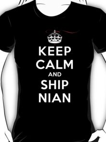 Keep Calm and SHIP Nian (Vampire Diaries) DS T-Shirt