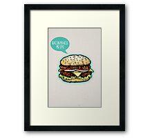 Epic Burger! Framed Print