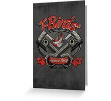 T-Birds' Speed Shop Greeting Card