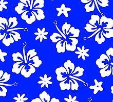 Blue Tahitian Case by jean-louis bouzou