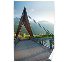 Bridge over the River Lech Poster