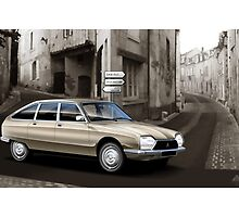 Citroen GS Pallas Poster Illustration by Autographics
