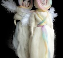 wool angel dolls by Lilaviolet