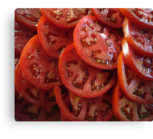 Sliced Tomatoes Canvas Print