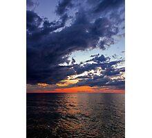 Big Water at Sundown - Lake Michigan Photographic Print