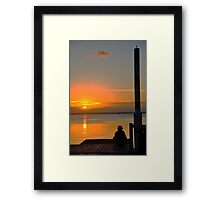 Child at Sunset Framed Print