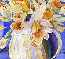 Daffodils in a Yellow Vase by Esmee van Breugel