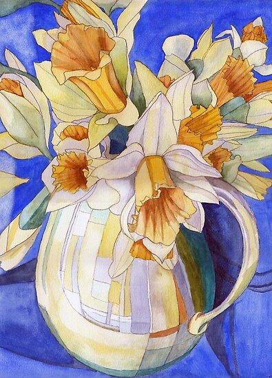 Daffodils in a Yellow Vase by Esmee van Breugel
