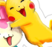 Pokemon hugs Sticker
