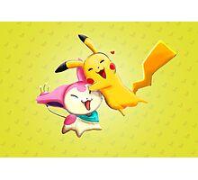 Pokemon hugs Photographic Print
