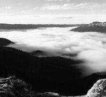 Mt Solitary in Black & White by jayneeldred