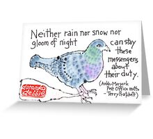 Carrier Pigeon Greeting Card