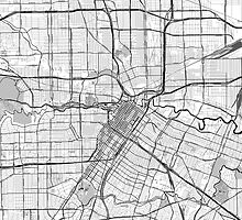 Houston OpenStreetMap Toner Poster by Traut1