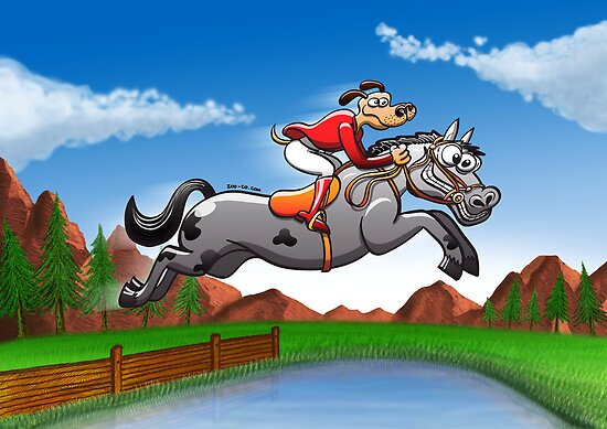 Olympic Equestrian Jumping Dog by Zoo-co