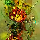 Abstract Digital Art-Dynamic Abstract Shapes And Lines by artonwear