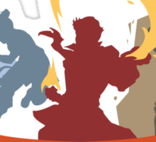 Fire Ferrets Trio - English Sticker