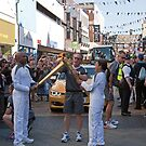 The Kiss of the Olympic Torch Bromley by Keith Larby