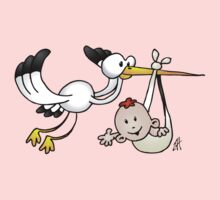 Stork with baby Kids Clothes