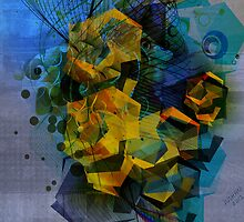 Abstract Digital Art-Dynamic Geometric Shapes And Lines by artonwear