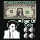 One Of Paper = Four Of Coin by Barnsy14