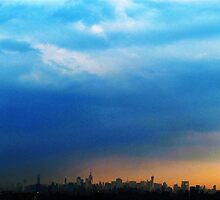 storm clouds over New York City by Alberto  DeJesus