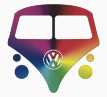 VW Bus hippie sunburst by thatstickerguy