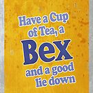 Have a cup of tea, a BEX, and a Good Lie Down Iphone Case by Renato Roccon