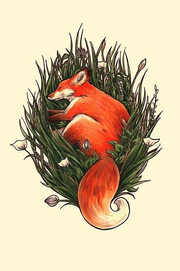 Fox in the Brush by WeileAsh