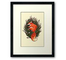 Fox in the Brush Framed Print