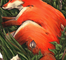 Fox in the Brush Sticker