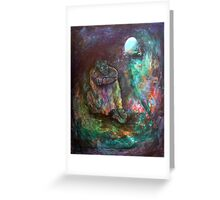 Elijah in the cave Greeting Card