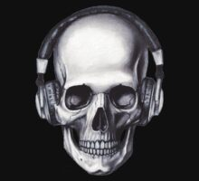 Skull With Head Phones by Baxter  Imaging