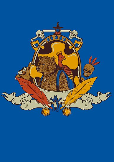 Bear & Bird Crest by sponzar