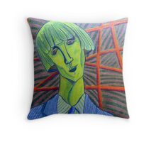 357 - MADAME KISLING IN GREEN - DAVE EDWARDS - COLOURED PENCILS - 2012 Throw Pillow