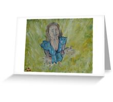 """Rain Catcher""  by Carter L. Shepard Greeting Card"